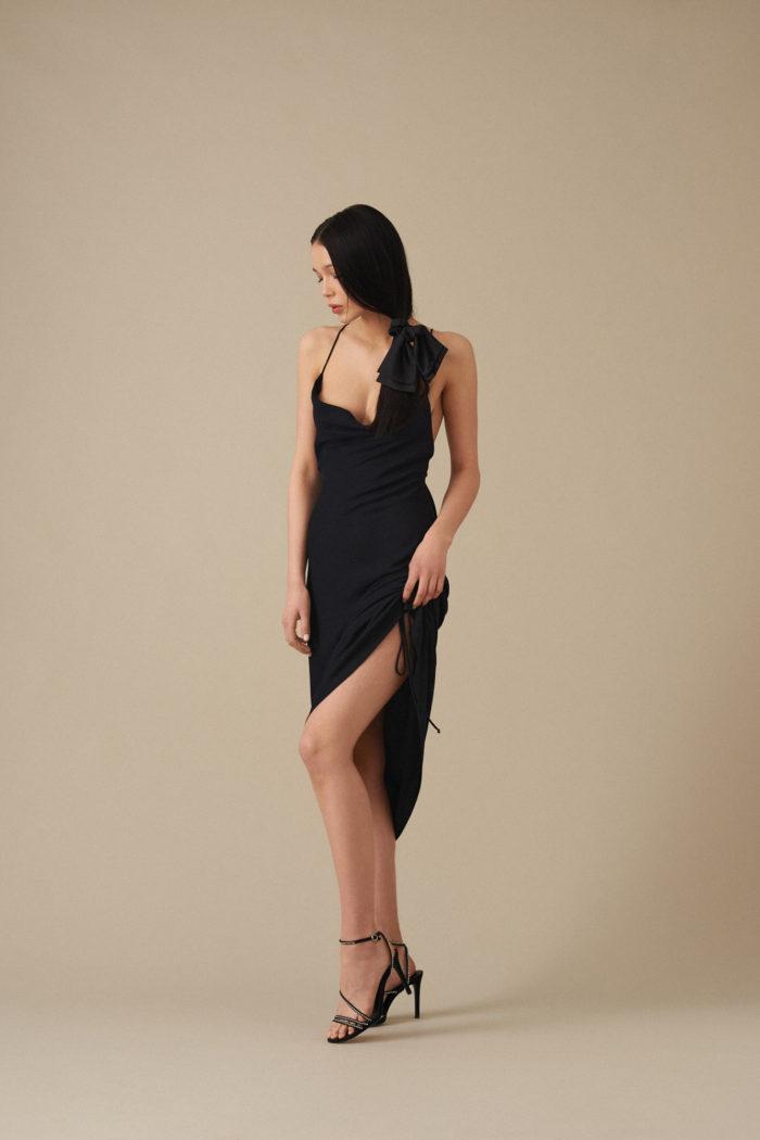 Sukienka z odkrytymi plecami Rosie – czarna
